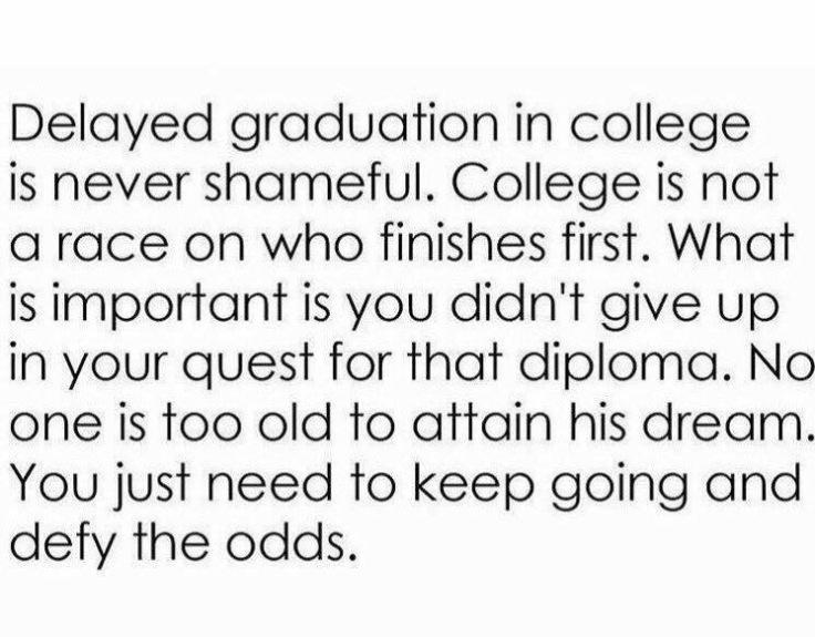 Delayed Graduation